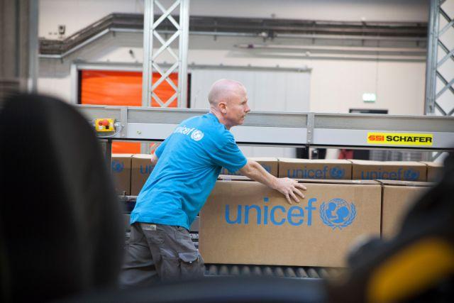 UNICEFin keskusvarastolta lähtee hätäapu